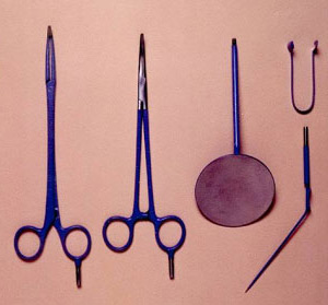 Riches forceps and abbey needle